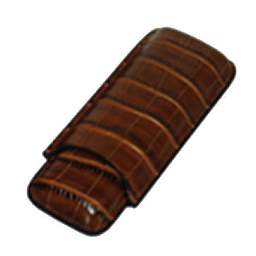 Classic Collection - Napoles Leather Case - 2 Fingers - Color Dark Brown