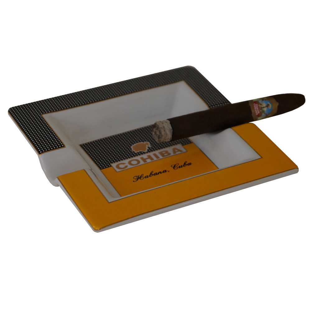 Cuban Extravaganza Collection - Cohiba Square Ashtray  - 7.8