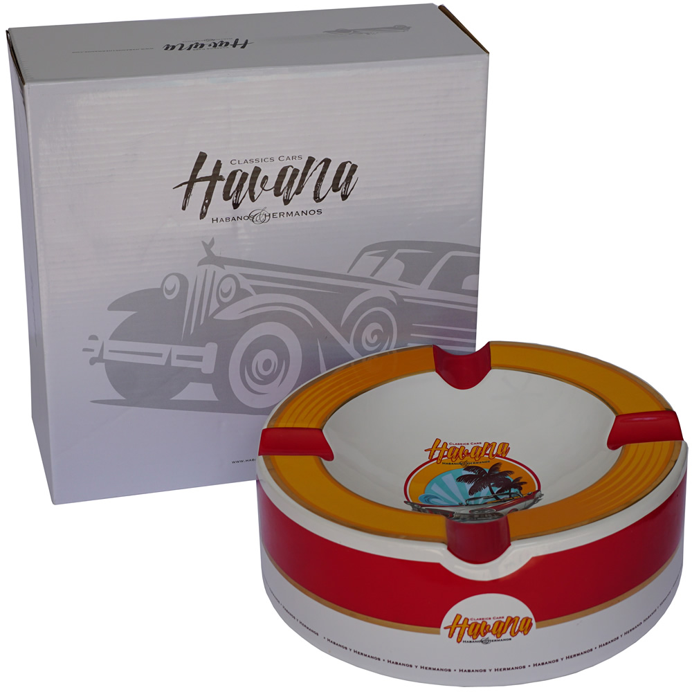 Old Havana Cars Cigar Ashtray - Old Mustard (10