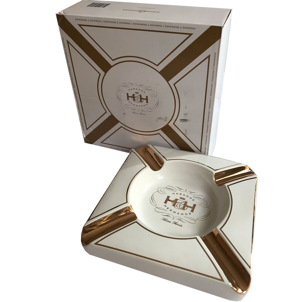 Insignia Collection - The White Diamond - Cigar Ashtray  - 8 3/4 x 1 3/4