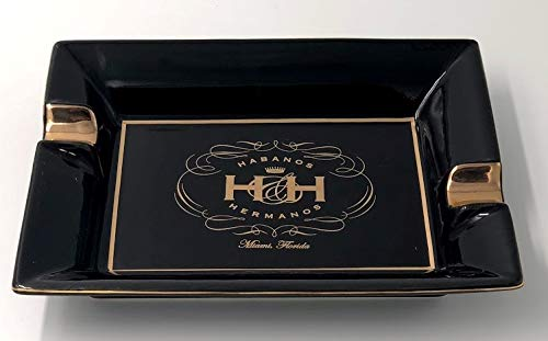 Insignia Collection - Black Platter Rectangular Cigar Ashtray